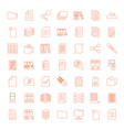 49 file icons vector image vector image