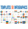 50 templates for infographics for four positions vector image vector image