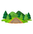 a train track in nature vector image