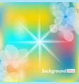 abstract background sun rays color vector image vector image
