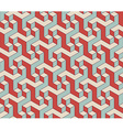 Abstract isometric 3d seamless pattern background vector image
