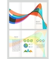 Abstract wave Brochure Template vector image vector image