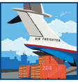air freighter vector image vector image