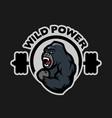 Angry gorilla sports gym logo
