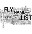 are you on the no fly list waht you can do text vector image vector image