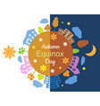 autumn equinox day and night vector image