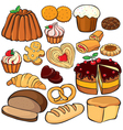 Baking and sweets icon set vector image vector image