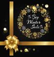 big winter sale with wreath vector image vector image