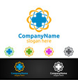 biomedicine cross medical hospital logo vector image vector image