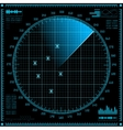 Blue radar screen HUD interface vector image