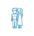 boyfriend girlfriend linear icon concept vector image vector image