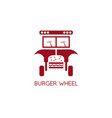 burger auto abstract concept design template vector image