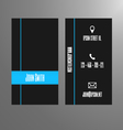 Business card template - blue and grey vector image vector image