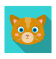 cat muzzle icon in flat style isolated on white vector image