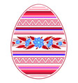 colorful happy easter egg for greeting card folk vector image vector image