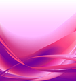 Colorful waves isolated abstract background pink vector image vector image
