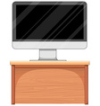 Computer screen on table vector image vector image