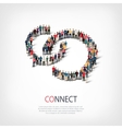 connect people sign 3d vector image vector image