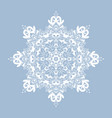 decorative snowflake isolated on white background vector image vector image