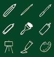 doodle art painting and drawing icons set vector image vector image