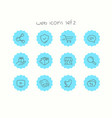 doodle icons set isolated on white web icons set 2 vector image