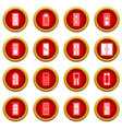 door icon red circle set vector image vector image