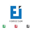 e letter logo business template icon design vector image