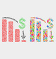 financial epic fail chart mosaic icon of vector image vector image