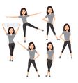 Fitness instructor A slender girl vector image