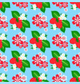 flowers foliage berry seamless pattern vector image