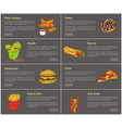 fried chicken and donut set vector image vector image