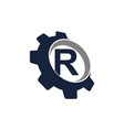 gear logo letter r vector image vector image