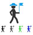 gentleman flag guide flat icon vector image vector image
