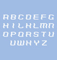 glitch font letters alphabet vector image vector image