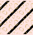 gold heart seamless pattern black-pink geometric vector image