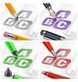 Hand draw sketch letters and vector image vector image