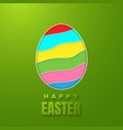 happy easter greeting card with color paper vector image vector image