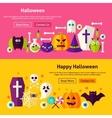 Happy Halloween Website Banners vector image