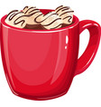 hot chocolate with marshmallows vector image