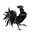 Image of black cock come on a white background vector image vector image