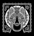 image of dog dingo in ethnic style vector image vector image
