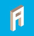 isometric letter a vector image vector image