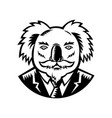 koala with moustache woodcut black and white vector image vector image
