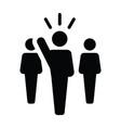 leader icon male public speaker person symbol vector image vector image