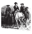 leaders riding horse vintage vector image vector image
