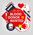 medical concept donor day blood and organs vector image vector image