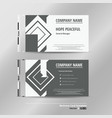modern name card template of business vector image