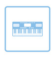 music synthesizer icon vector image vector image
