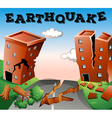 Natural disaster scene of earthquake vector image