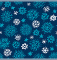 night stars and snowflakes seamless pattern vector image vector image